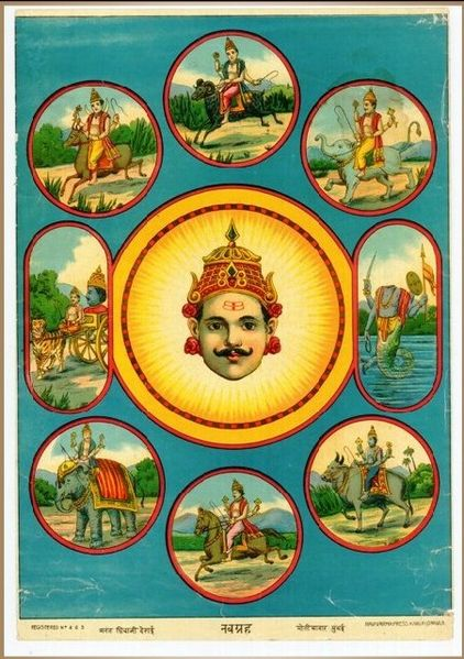 Who rides what Vahana (Animal or Bird)? (1/2)
