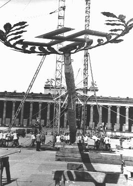 swastika in Berlin May Pole