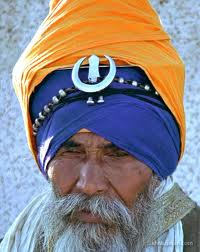 sikh with crescent moon