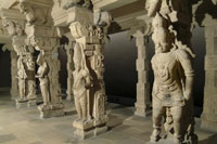 Philadelphia museum-Madurai temple pillars