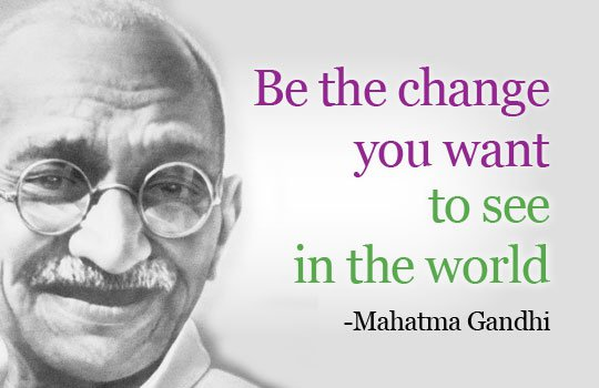 be th change