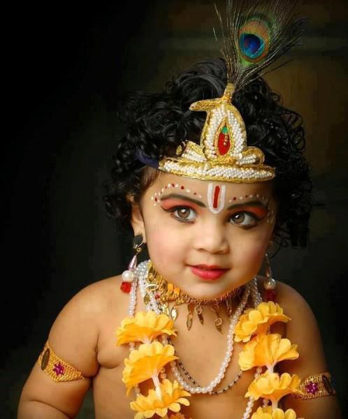 krishna with brown eyes