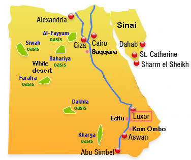 map Egypt Luxor