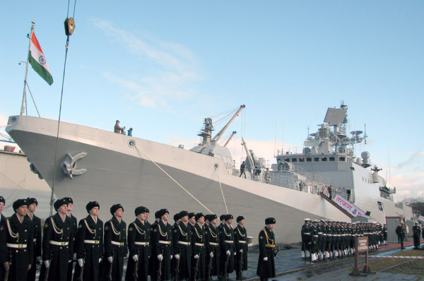 commissioning of INS Tarkash on 09 Nov 2012