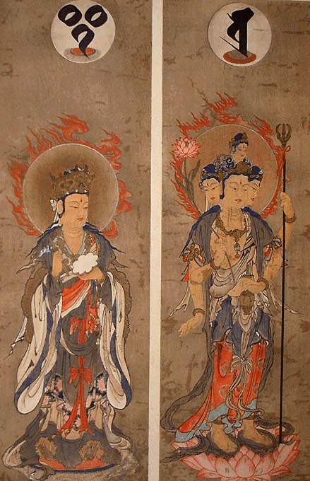 Indra and Brahma,china2