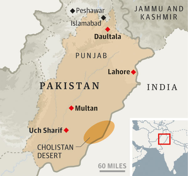 Pakistan, Punjab map
