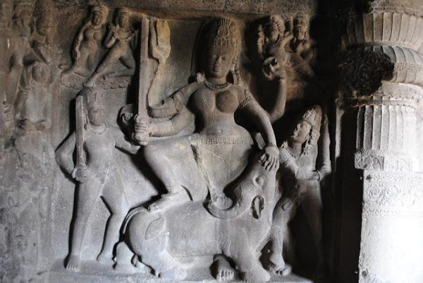 ajanta Cave14_DurgaSamhara