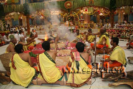 Homam in front of Sayeeshwara