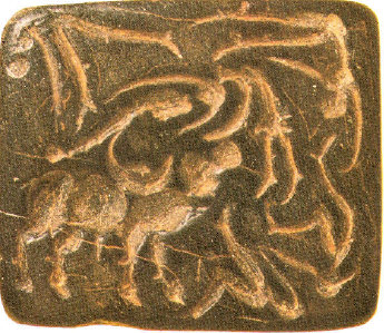 Bull Fight,Indus Seal, Delhi Museum