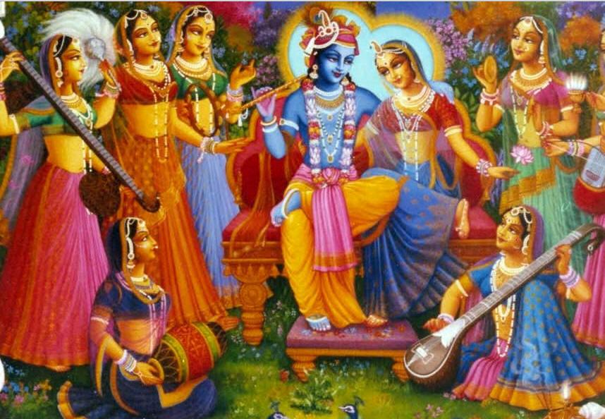 Radha-Krishna-surrounded-