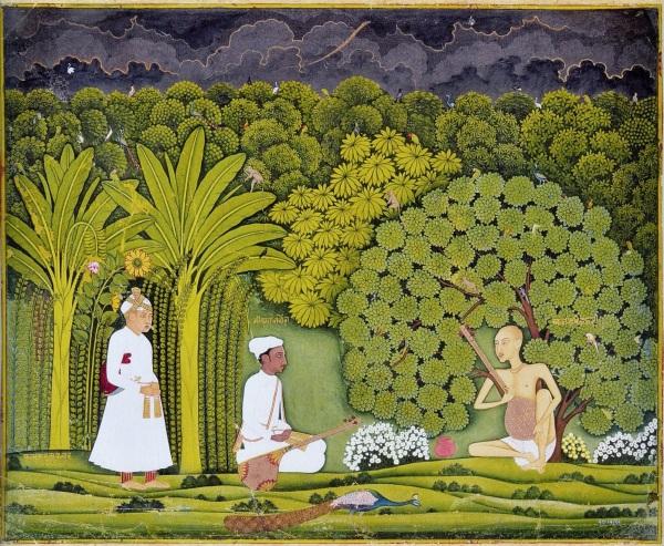 Akbar_and_Tansen_visit_Haridas