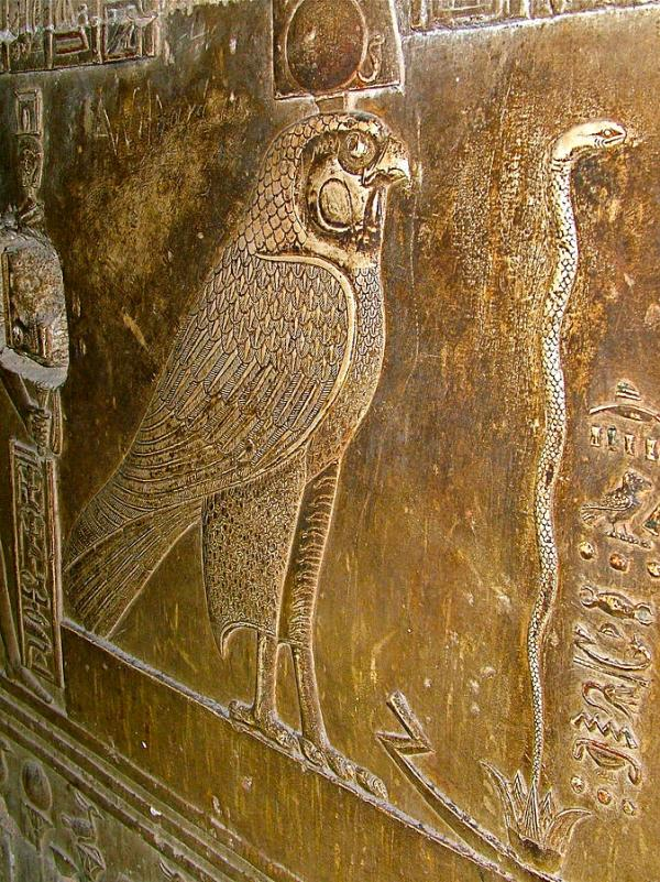 falcon,snake,temple-of-hathor