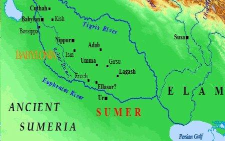 Map Sumeria