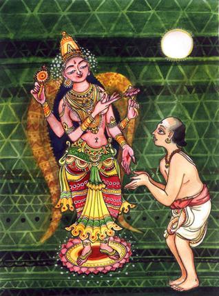 Abhirami-and-Bhattar-painted-by-Keshav