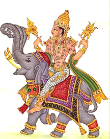 indra on elephant