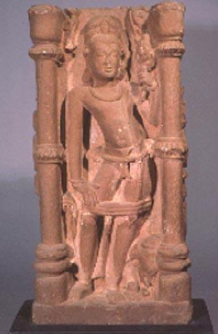 standing indra - sandstone - madhya pradesh - singapore