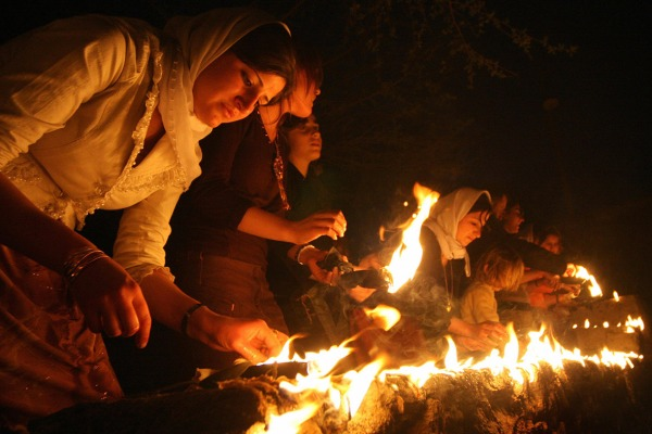 yazidi fire worship
