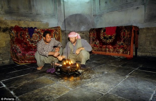 yazidi oil burning for saints