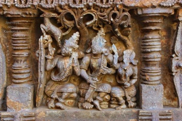 122 Amruteshwara temple Rama Sita Lakshmana Golden Deer