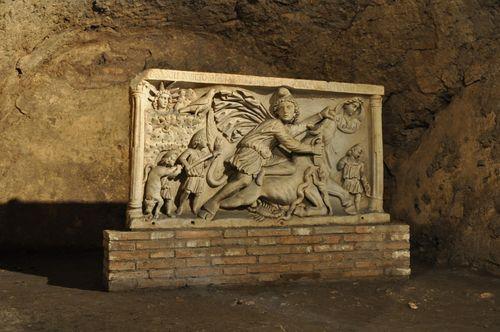 mithraeum in Rome hidden