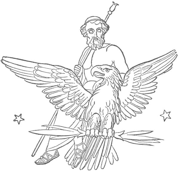 Zeus (Jupiter) on eagle