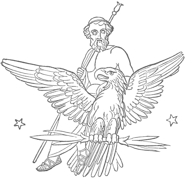 Zeus (Jupiter) on eagle