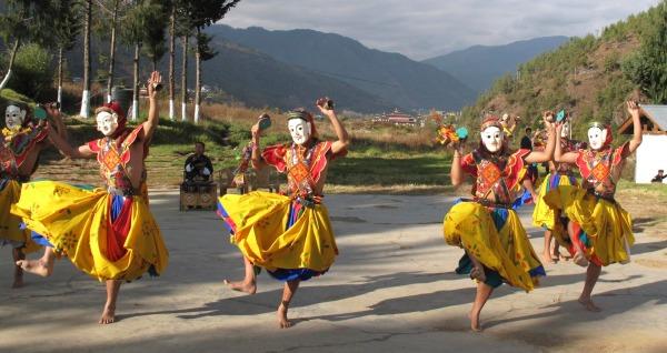 Bhutan masked dancers  4