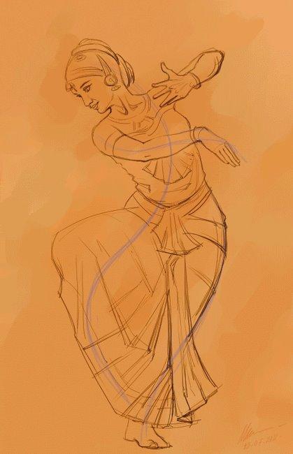 dance line drawing