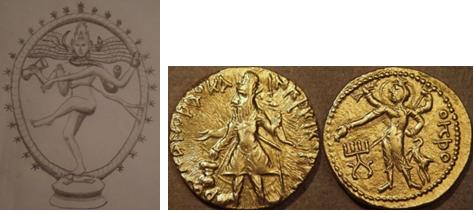 shiva on coin