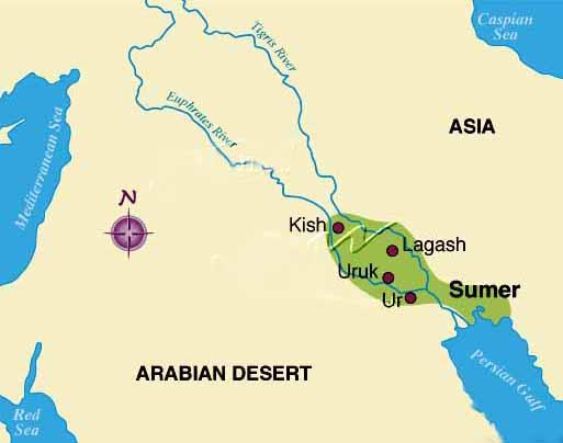 sumermap2 in modern Iraq