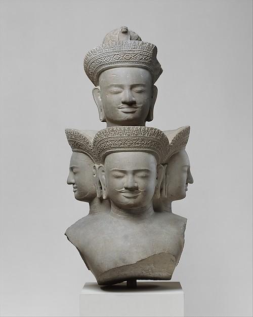 bust of five headed siva