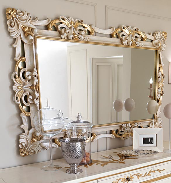 Beautiful Classic Patterned Design Luxury Wall Mirrors Ideas