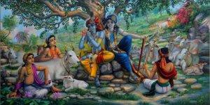 Krishna-and-Balaram-on-top-of-Govardhan-hill
