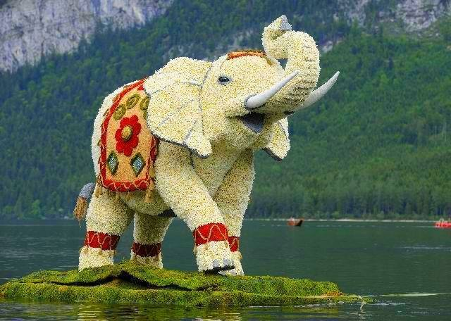 36 FT TALL DUTCH FLOWER ELEPHANT