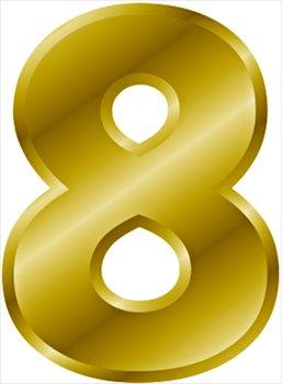 gold-number-8