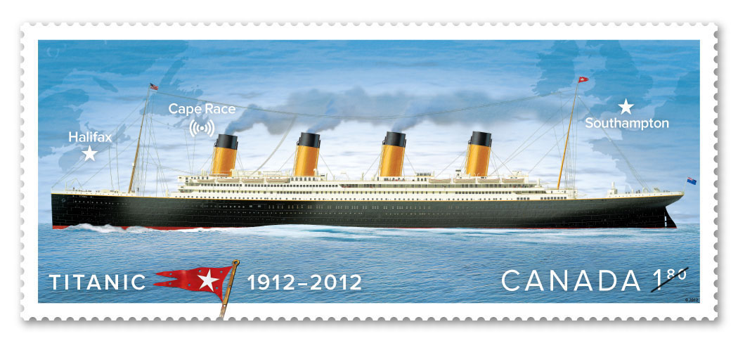 Canada Post unveiled today the images of the five stamps that will be issued on April 5 to mark the centennial of the sinking of RMS Titanic. (CNW Group/Canada Post)