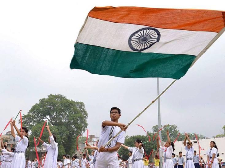 flag students