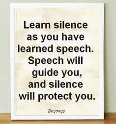 learn silence