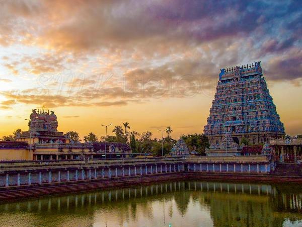 sunset, chidambaram