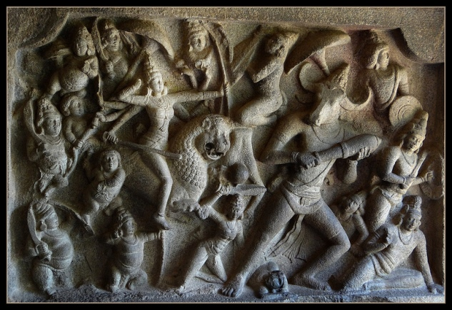 durga, mamallapuram
