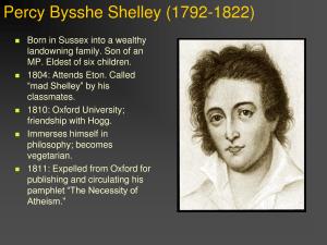 Percy Shelley bio docstoc.com