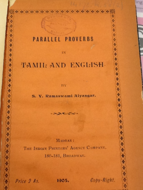 Proverbs Tamil And Vedas