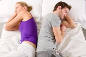 husband wife bed