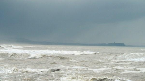 rain in sea image