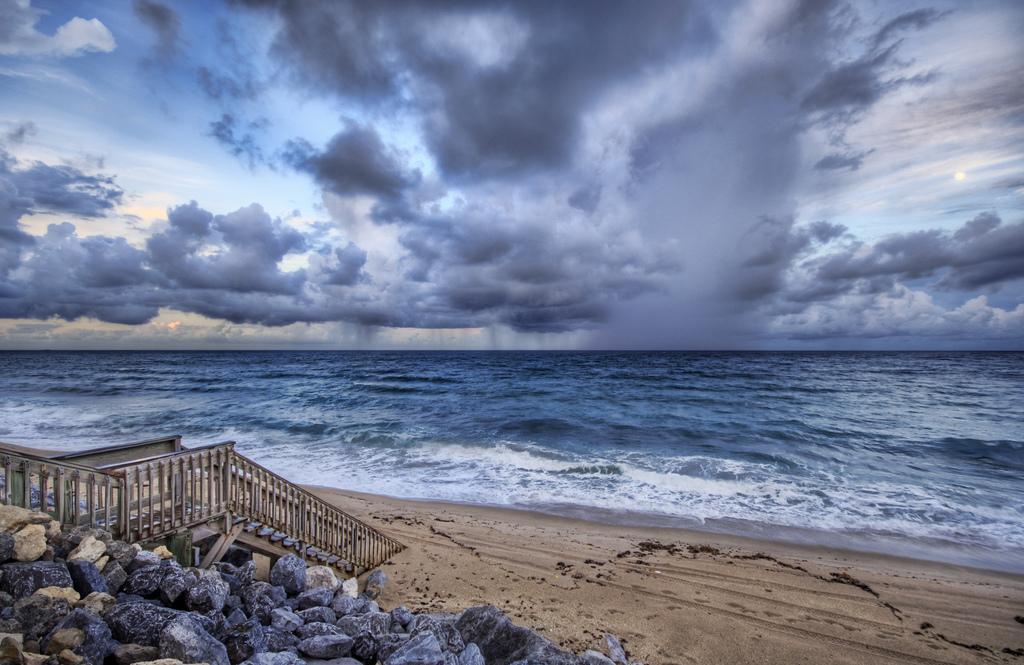 rain sea