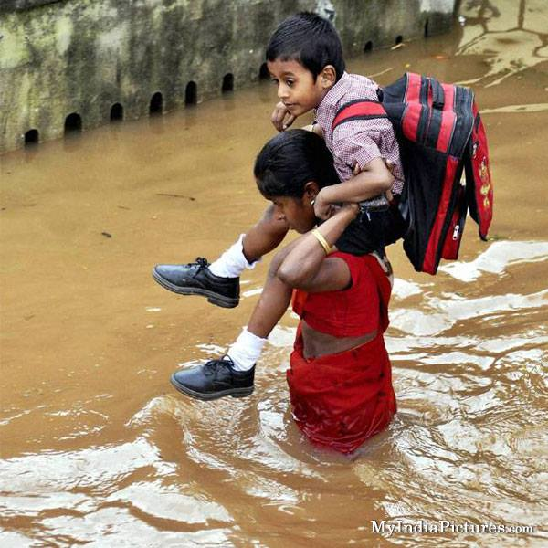 schooling in floods