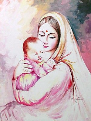 mother rangoli