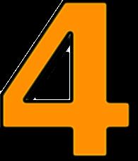 number_4_orange_T