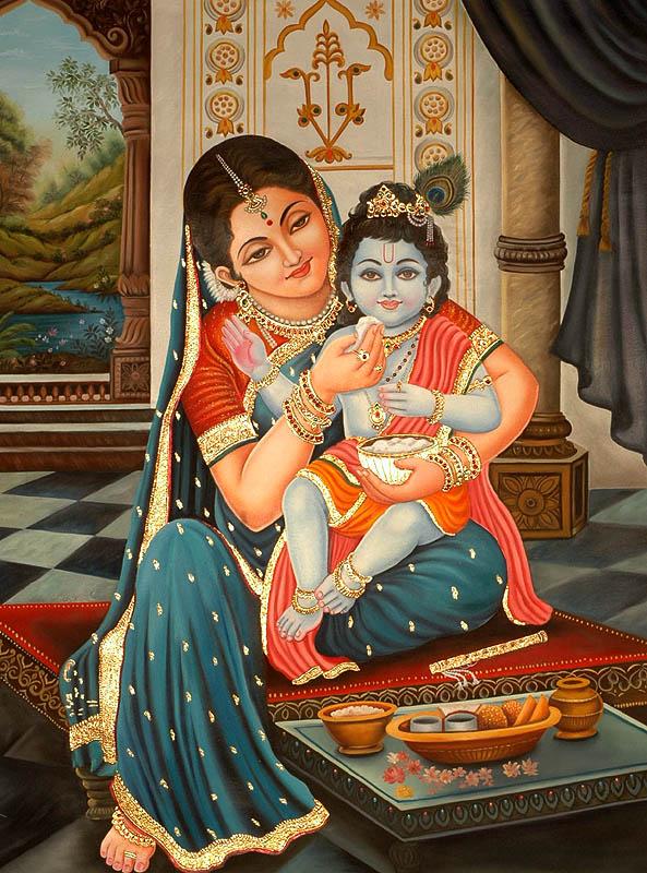 yasotha feeding krishna,fb
