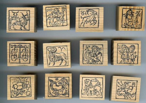 zodiac-rubber-stamps